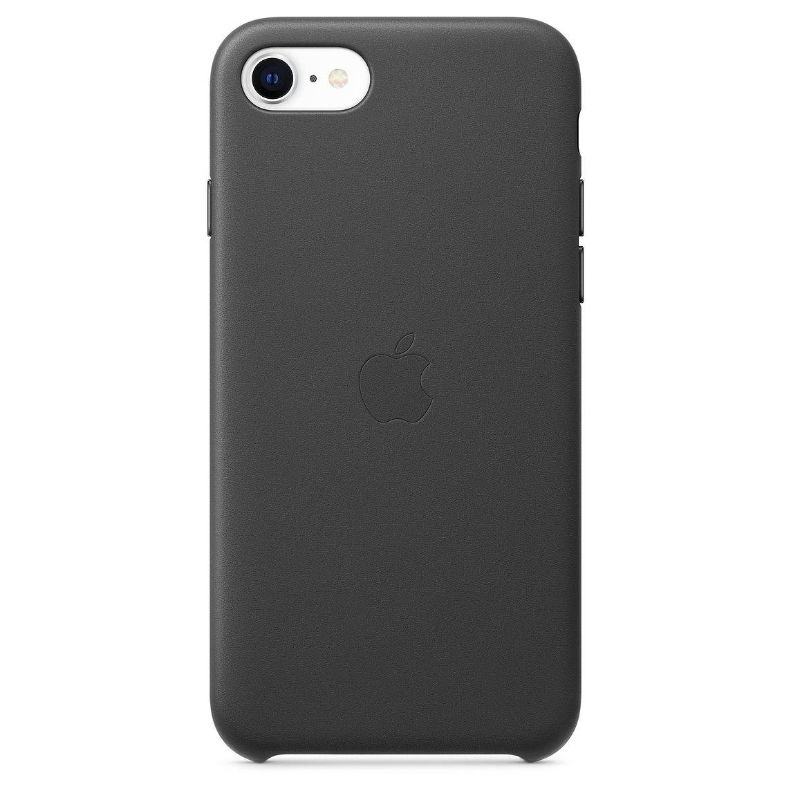 Apple iPhone SE Leather Case Black (2020)