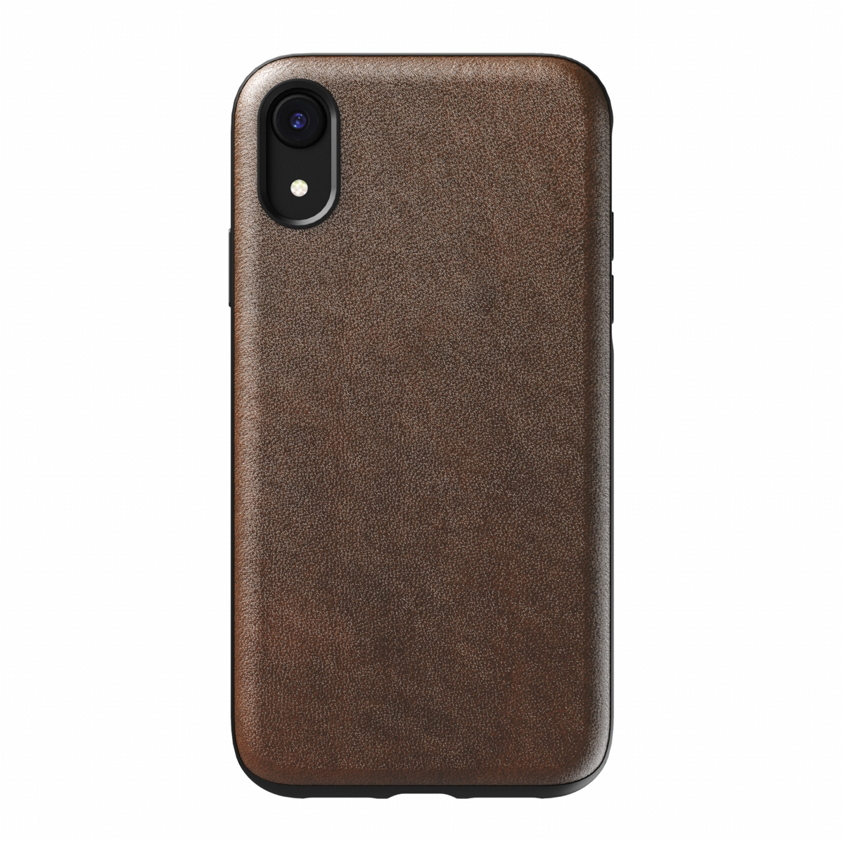 Nomad Case Leather Rugged Rustic Brown für iPhone XR