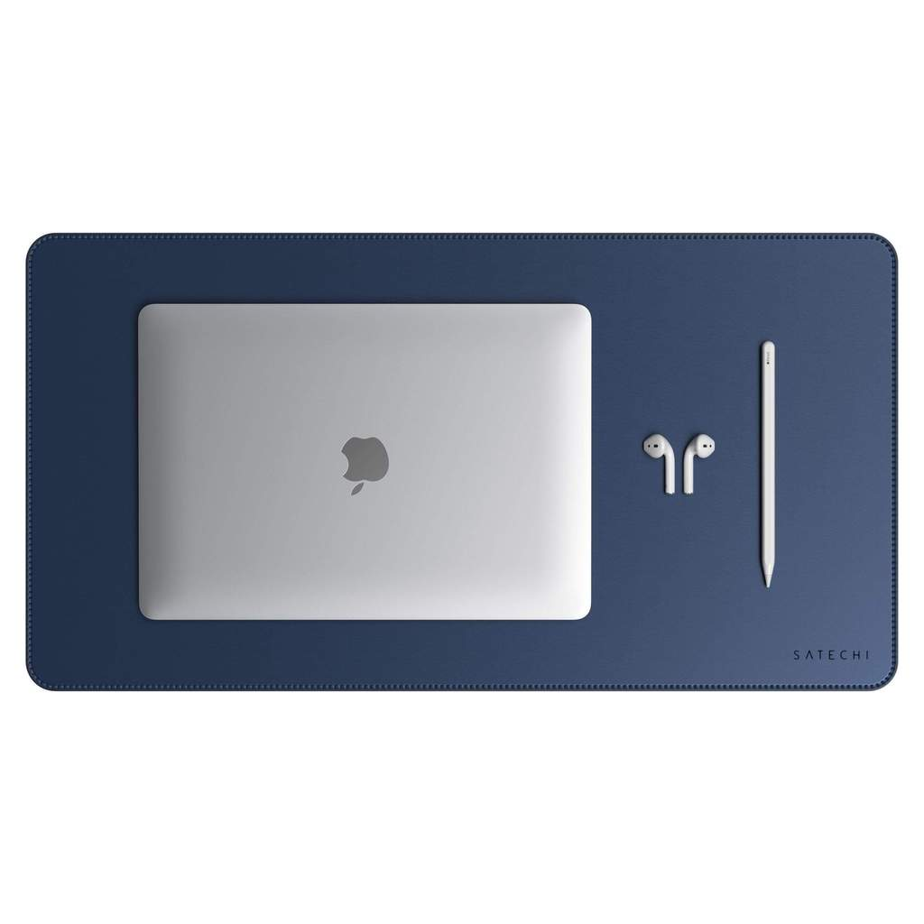 Satechi Eco Leather Desk Mat blue