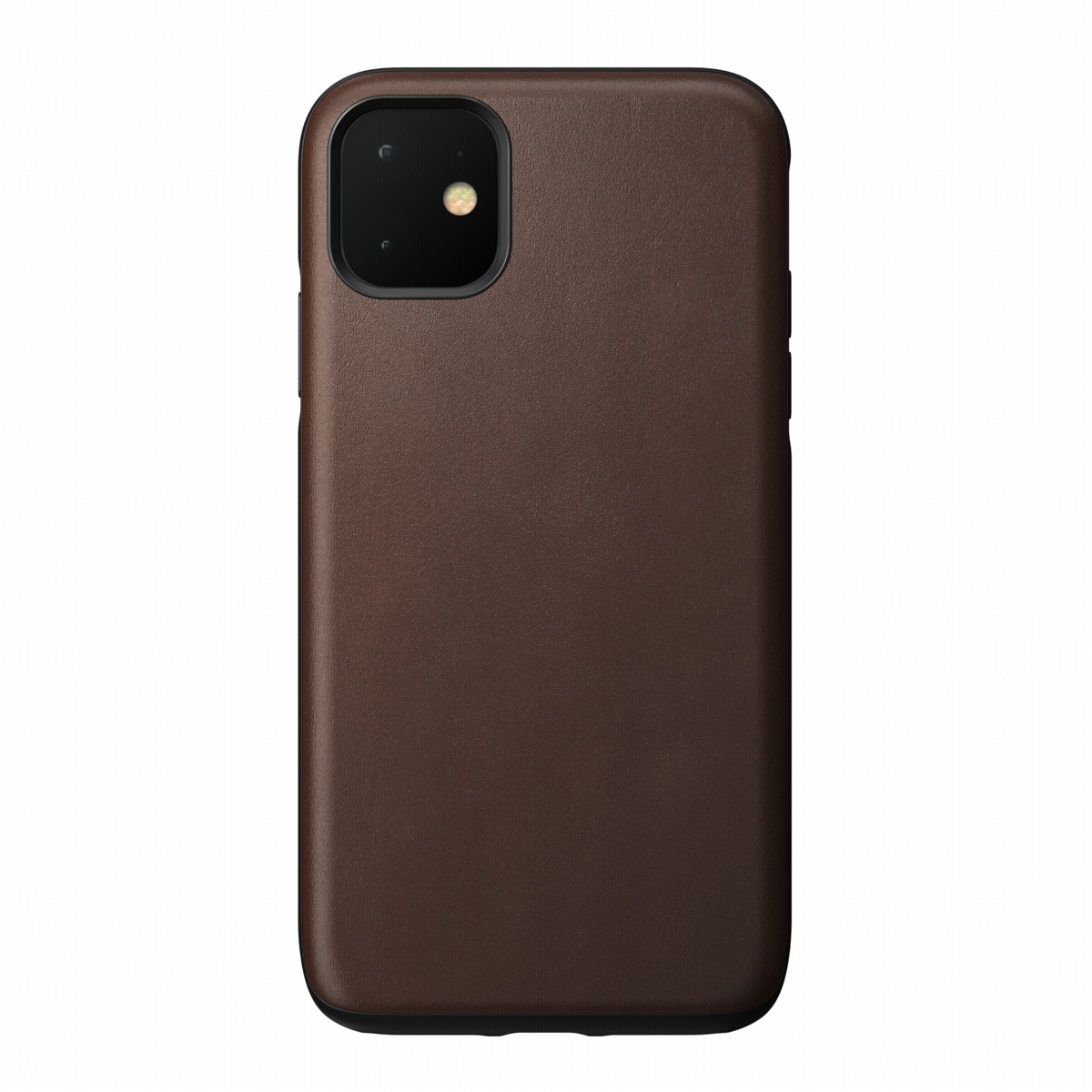 Nomad Case Leather Rugged Rustic Brown iPhone 11