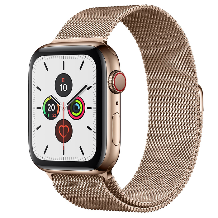 Apple Watch Ser5 Steel Gold G PS+Cell 44mm Gold Milanese
