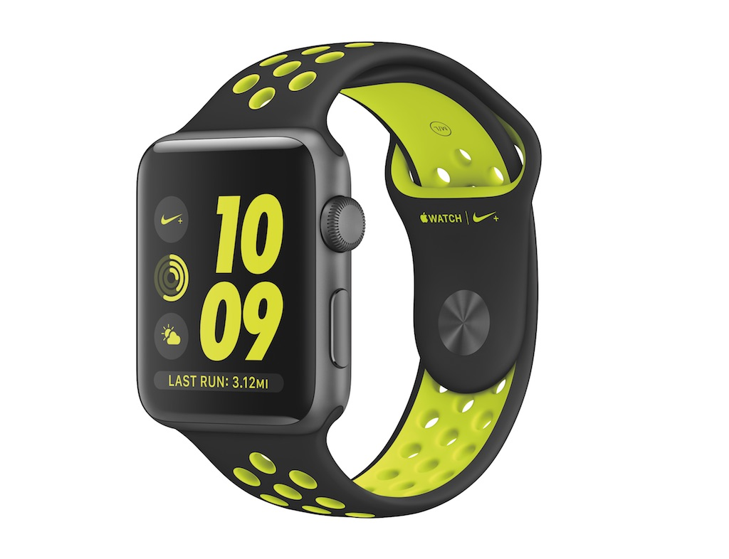 Apple Watch 38mm Nike Sport Band - Black/Volt