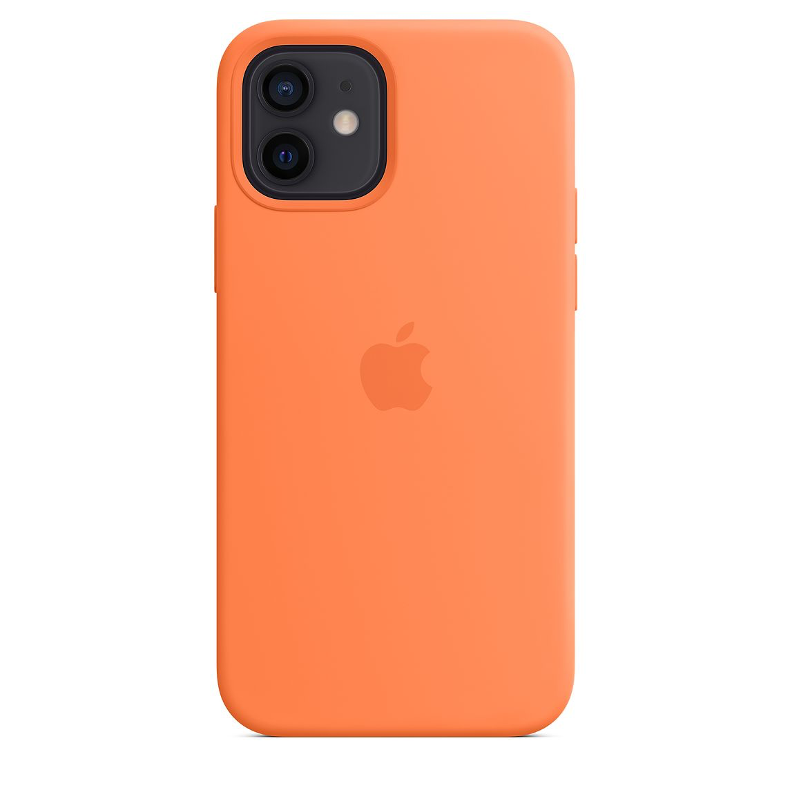 Apple iPhone 12/12Pro Silicone Case with MagSafe Kumquat