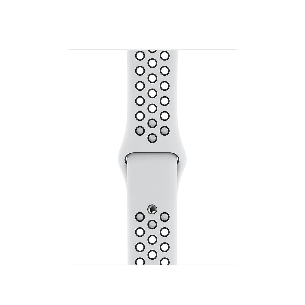 Apple Watch 44 mm Pure Platinum/Black Nike Sport S/M & M/L