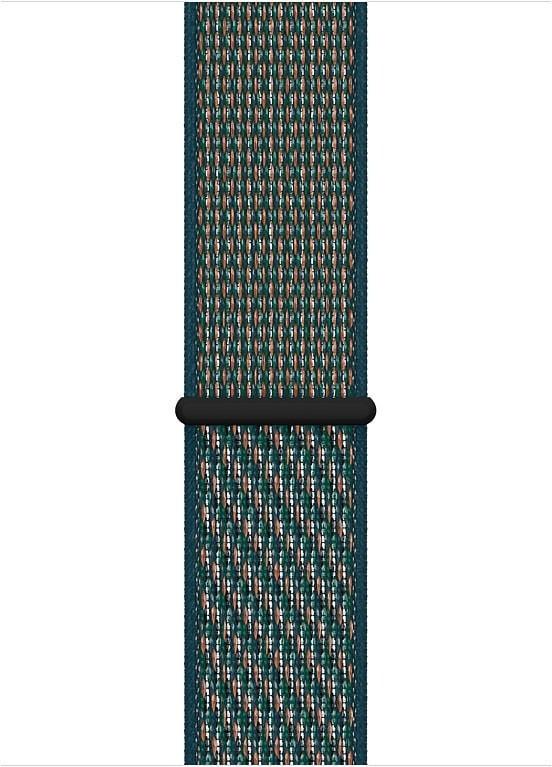 Apple Watch 44 mm Hyper Crimson/Neptune Green Nike Sport Loop