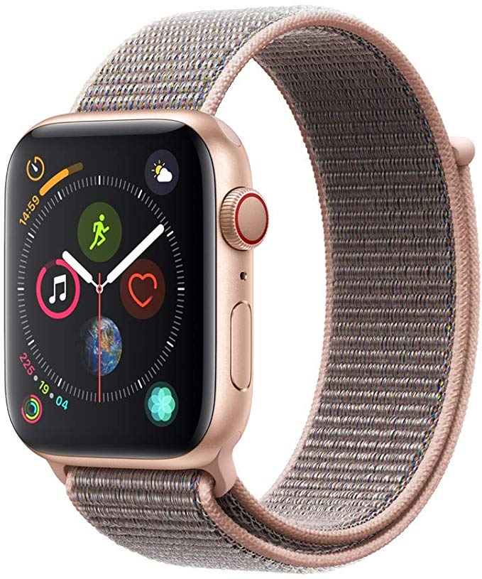 Apple Watch Ser4 Alu Gold GPS + Cell 40 mm PinkSand SportLoop