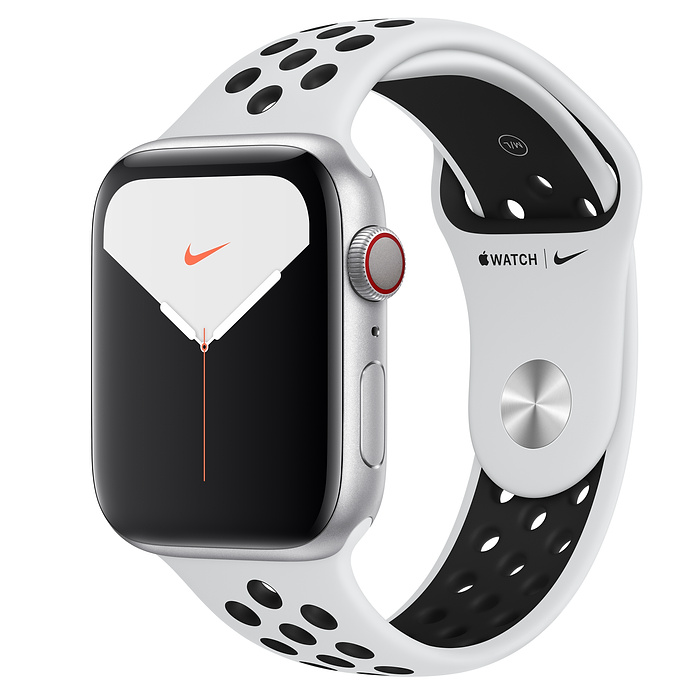 Apple Watch Nike5 Alu Silver GPS+Cell 44mm Plat/Bl Nike Sp