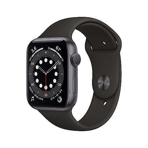 Apple Watch Ser6 Alu GPS Space 40 mm Black Sport Band Regular