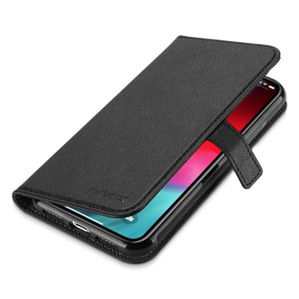 Nevox ORDO iPhone XR Booktasche schwarz-grau