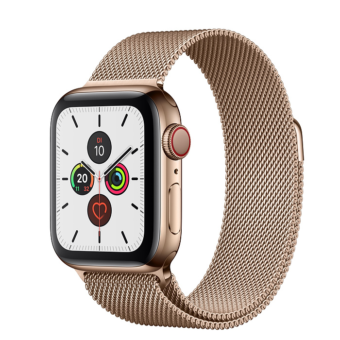 Apple Watch Ser5 Steel Gold G PS+Cell 40mm Gold Milanese