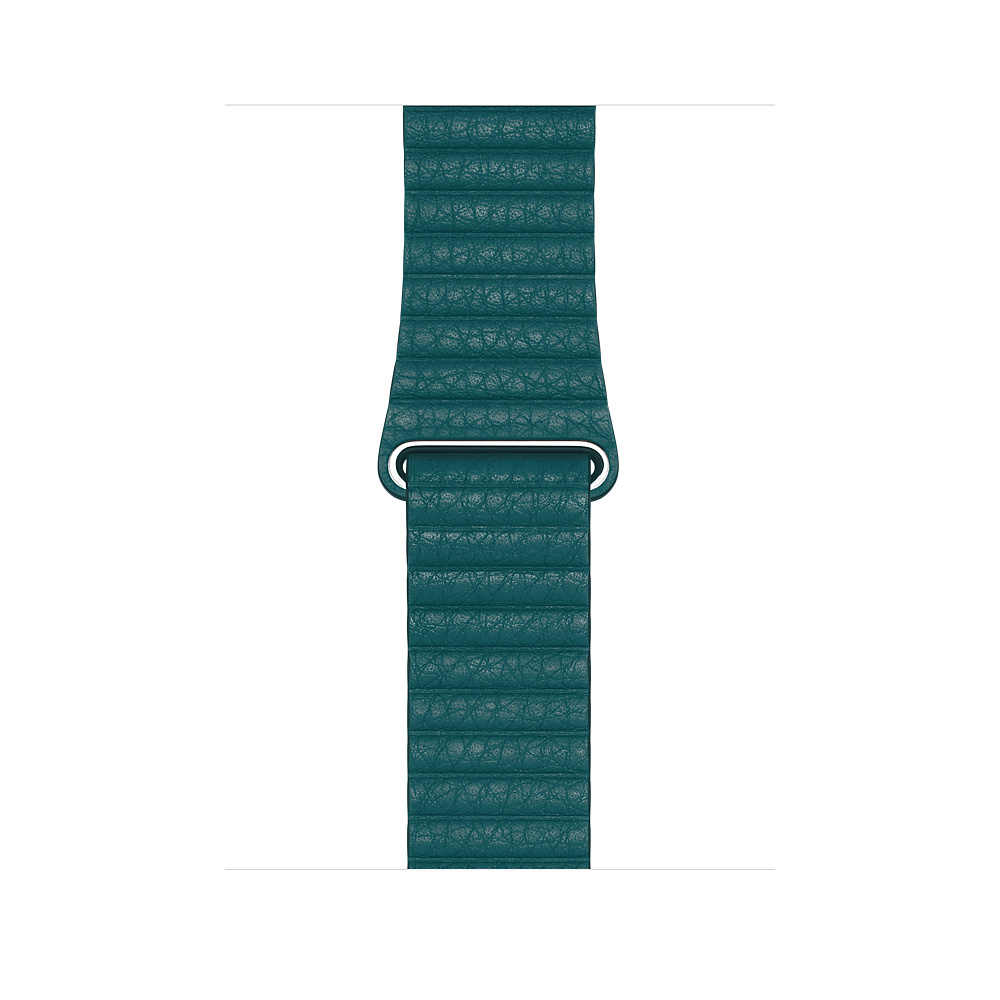 Apple Watch 44mm Peacock Leather Loop Large