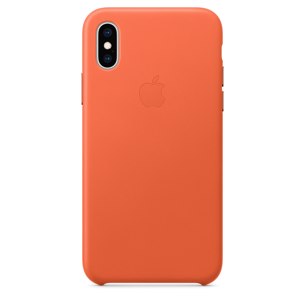 Apple iPhone XS Leather Case Sunset