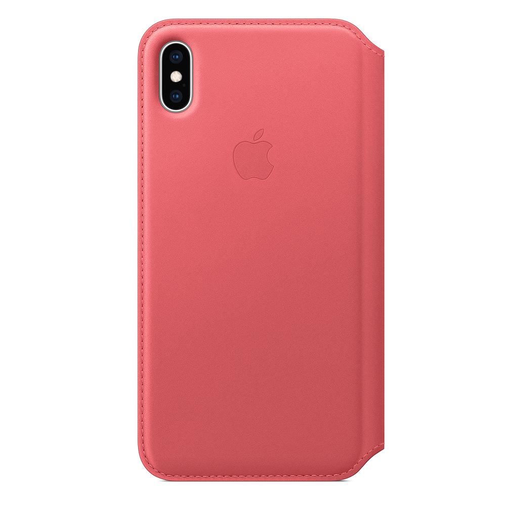 Apple iPhone XS Max Leather F olio - Peony Pink