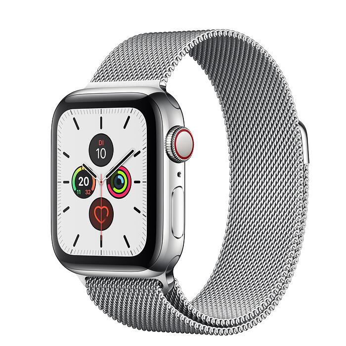 Apple Watch Ser5 Steel Stainl GPS + Cell. 40 mm Steel Milanese