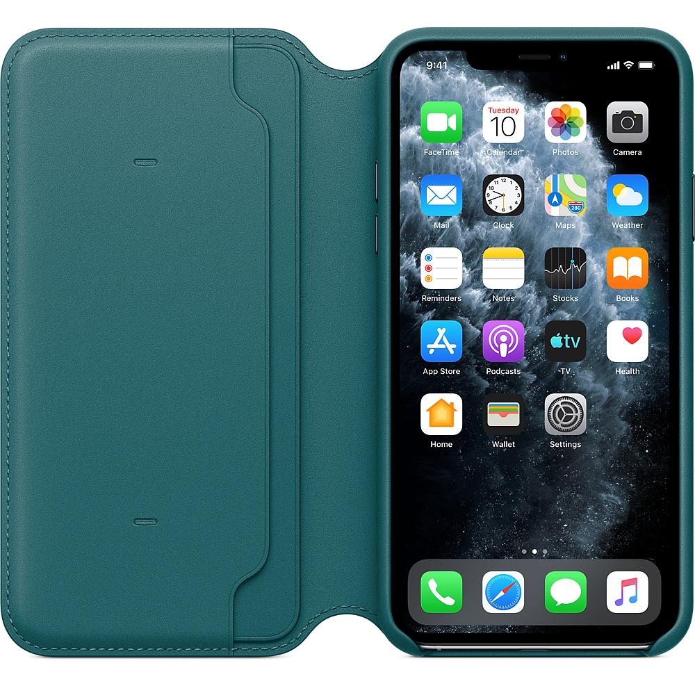 Apple iPhone 11 Pro Max Leather Folio Peacock