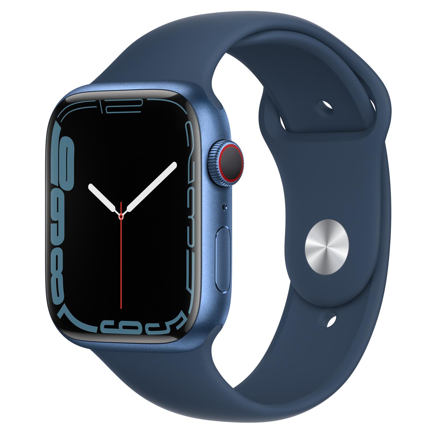 Apple Watch Ser7 Alu GPS + Cell Blue 45 mm Abyss Blue Sport Band Regular