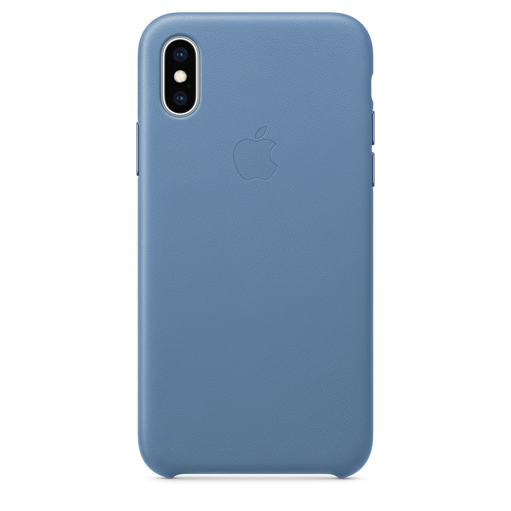Apple iPhone XS Leather Case Cornflower