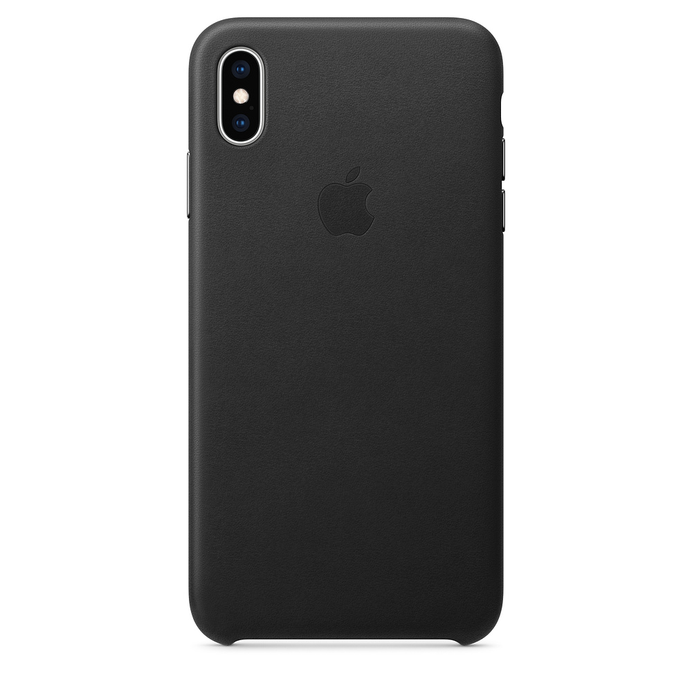 Apple iPhone XS Leather Case - Black