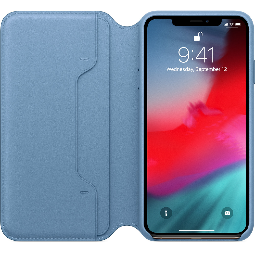 Apple iPhone XS Leather Folio Cape Cod Blue