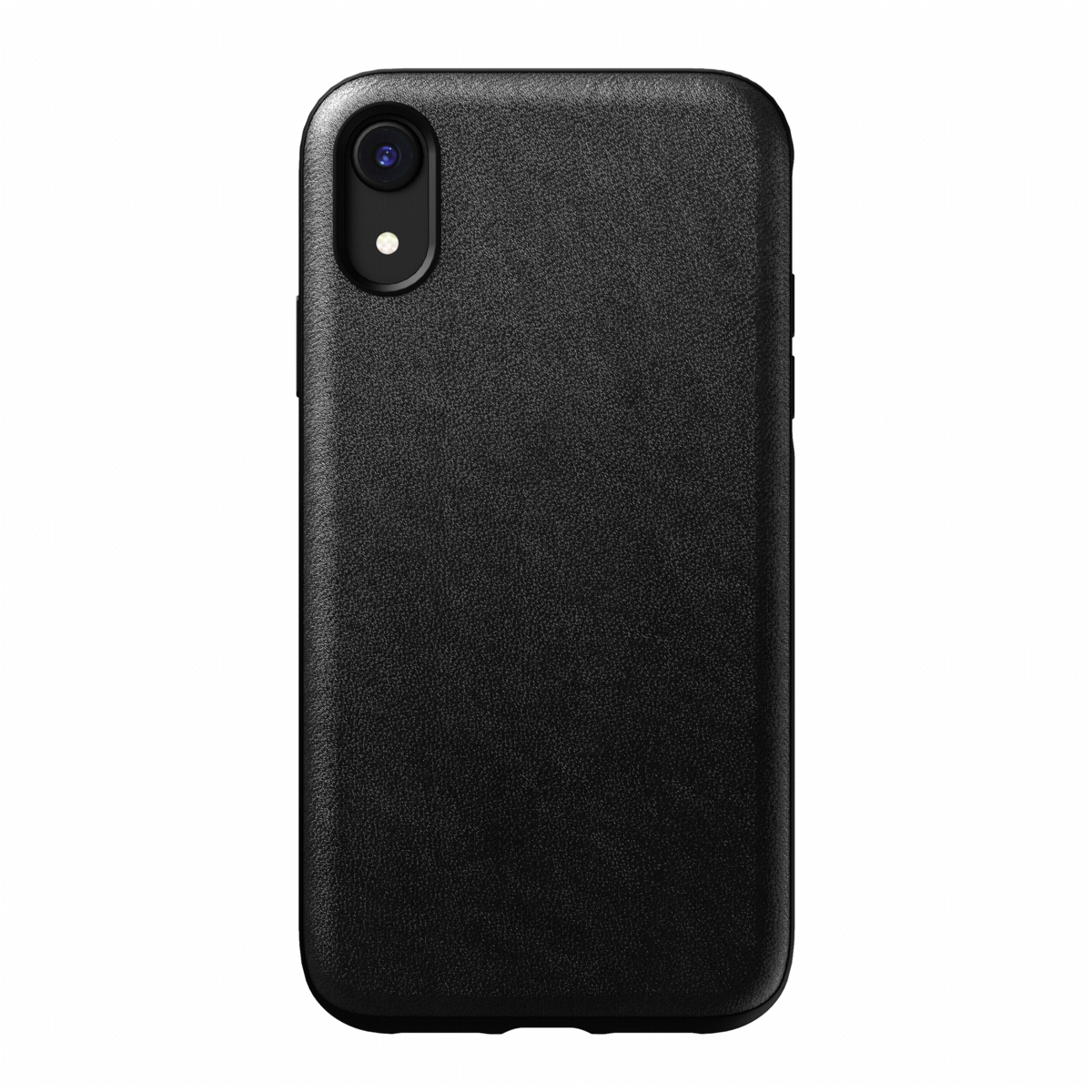 Nomad Case Leather Rugged Black für iPhone XR