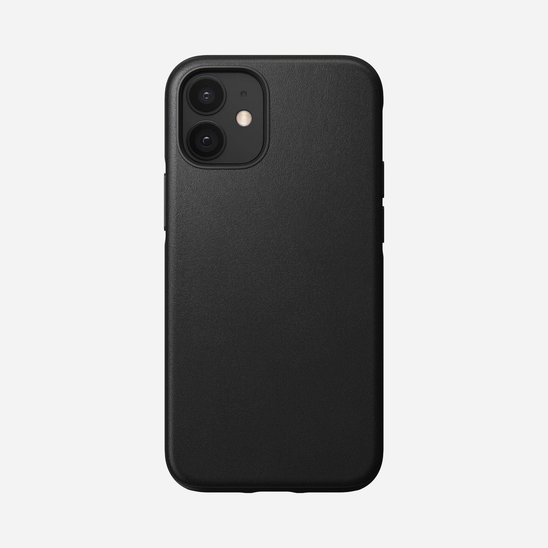 Nomad Rugged Case Black Leather für iPhone 12 Mini