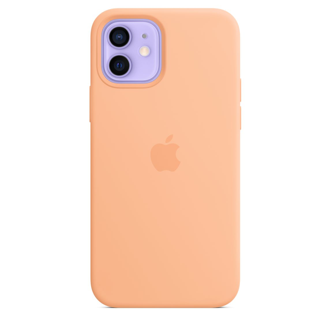 Apple iPhone 12 Pro Max Silicone Case with MagSafe Cantaloupe