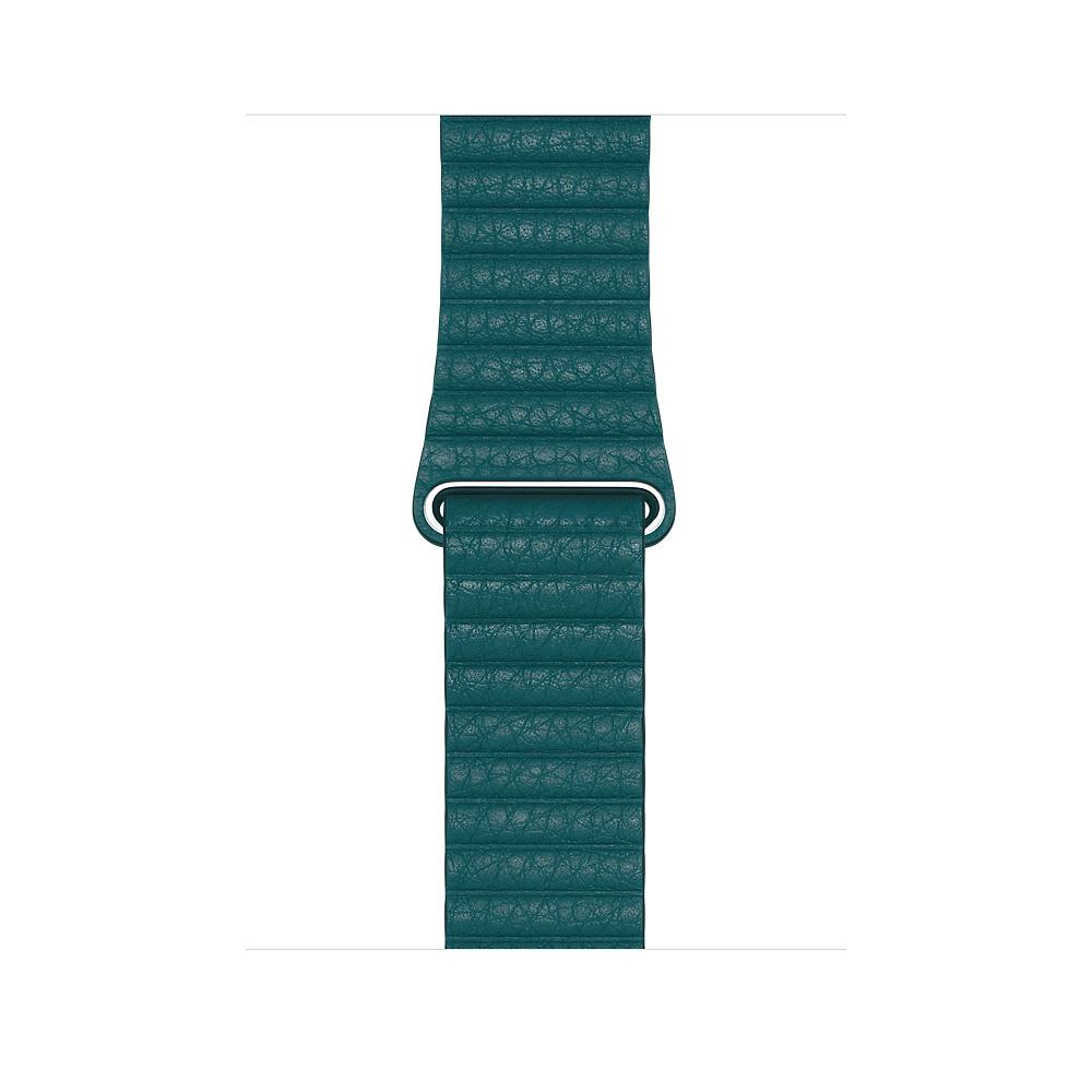 Apple Watch 44mm Peacock Leather Loop Medium