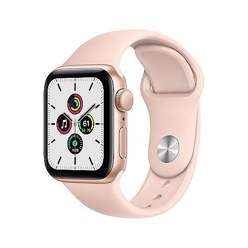 Apple Watch SE Alu Gold GPS 40 mm Pink Sand Sport Band Regular