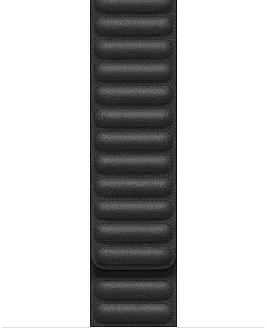 Apple Watch 40mm Black Leather Link Large