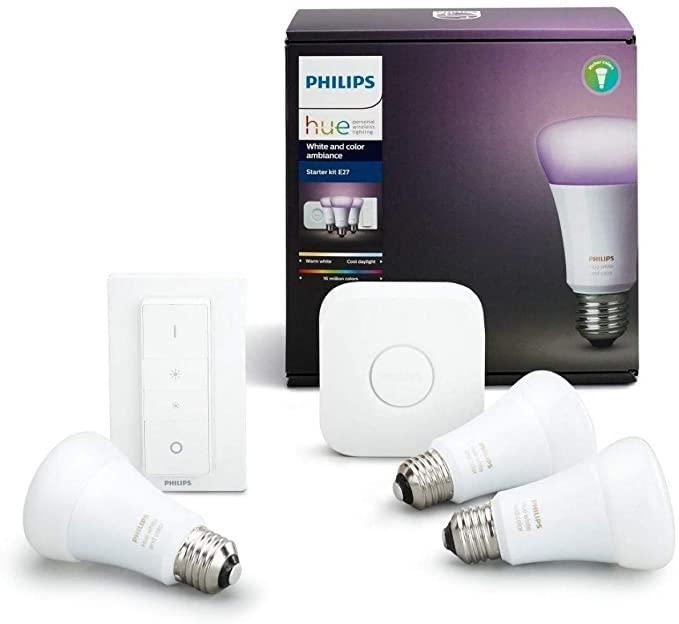 Philips Hue LED E27 3er Start Ambiance E27 3er Starter Set