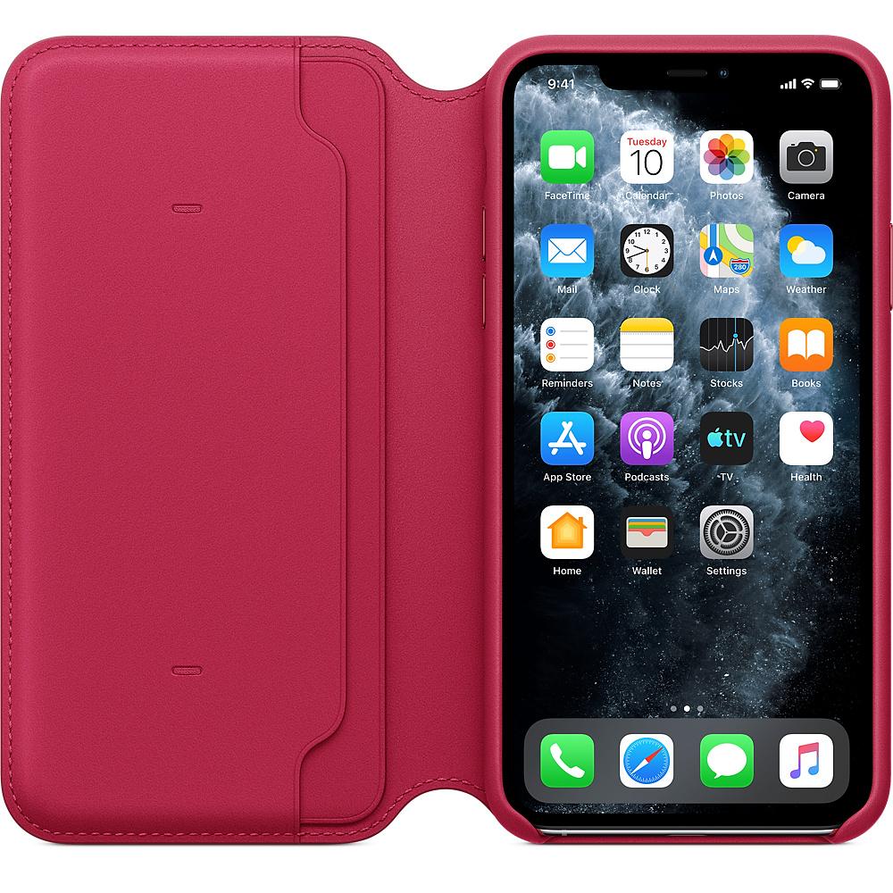 Apple iPhone 11 Pro Max Leather Folio Raspberry