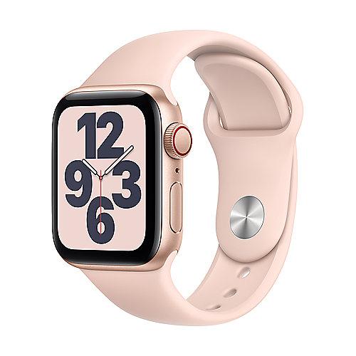 Apple Watch SE Alu Gold GPS + Cell. 40 mm Pink Sand Sport Band Regular