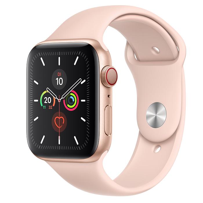 Apple Watch Ser5 Alu Gold GPS +Cell 44mm Pink Sand Sport Ba