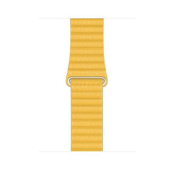 Apple Watch 44mm Meyer Lemon Leather Loop Large