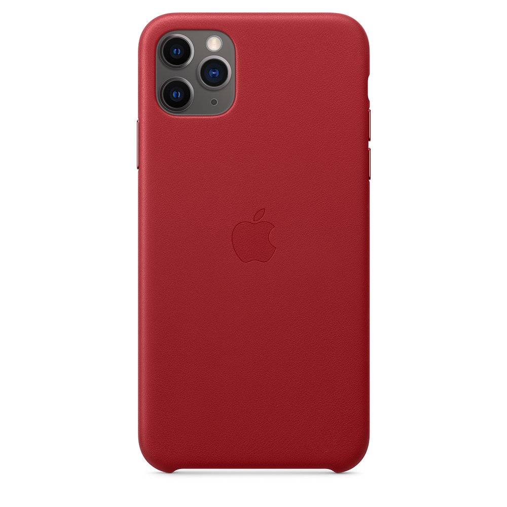 Apple iPhone 11 Pro Max Leather Case (PRODUCT)RED