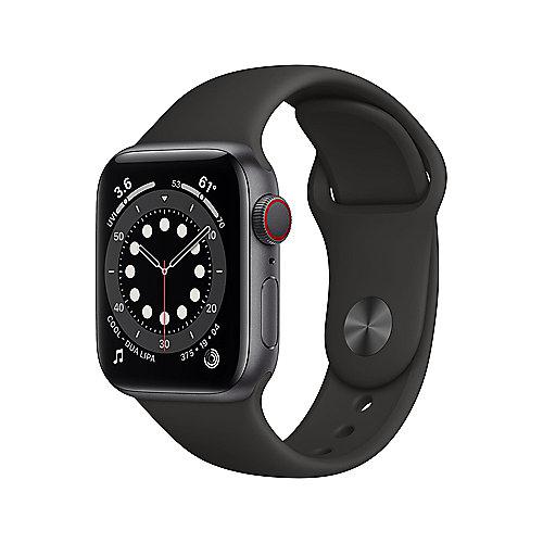 Apple Watch Ser6 Alu Space GPS + Cell. 44 mm Black Sport Band Regular