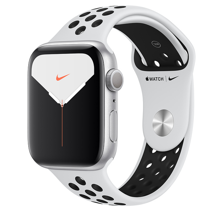 Apple Watch Nike5 Alu Silver GPS 44 mm Plat/Bl Nike Sport Band
