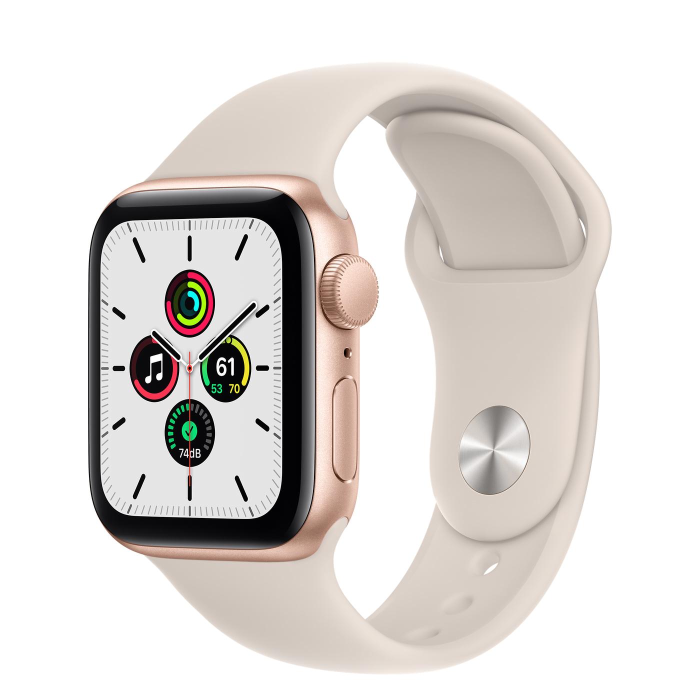 Apple Watch SE GPS Alu Gold 40mm Starlight Sport Band Regular