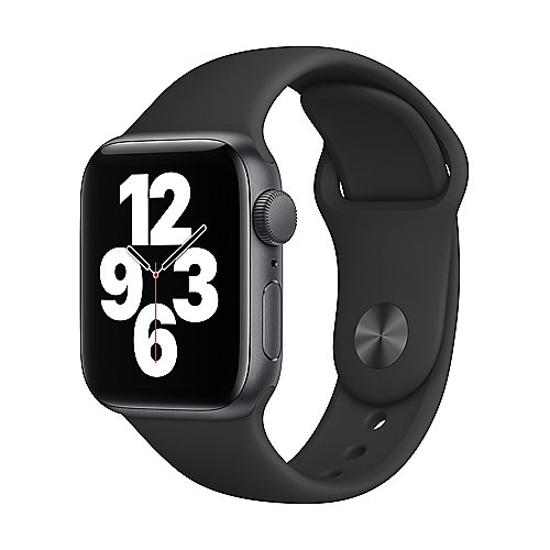 Apple Watch SE Alu Space GPS 44 mm Black Sport Band Regular