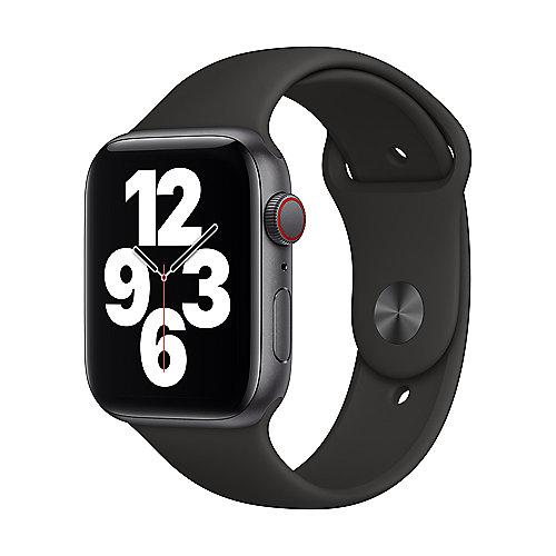 Apple Watch SE Alu Space GPS + Cell. 40 mm Black Sport Band Regular