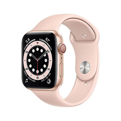 Apple Watch Ser6 Alu Gold GPS+Cell. 44mm Pink Sand Sport Band Regular