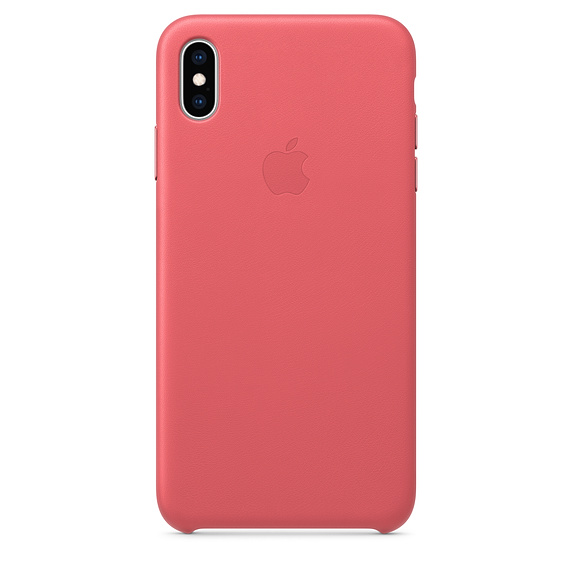 Apple iPhone XS Max Leather C ase - Peony Pink