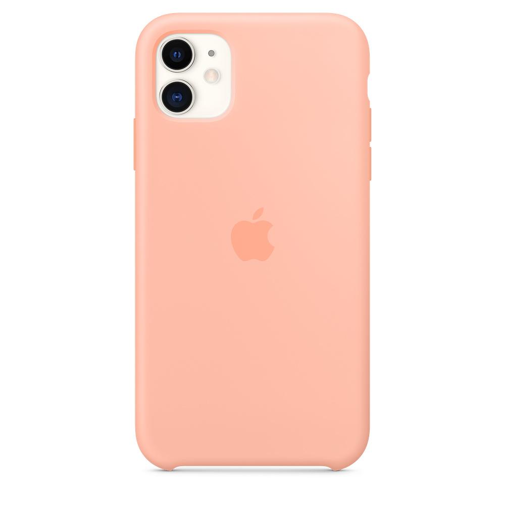 Apple iPhone 11 Silicone Case Grapefruit