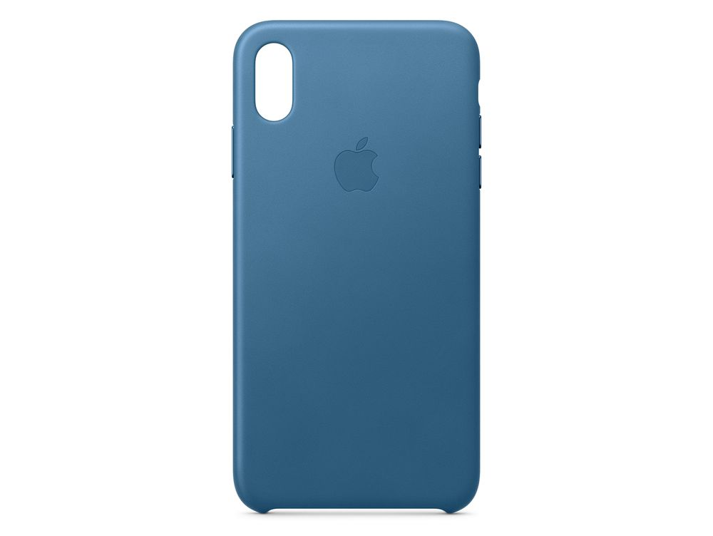 Apple iPhone XS Max Leather C ase - Cape Cod Blue