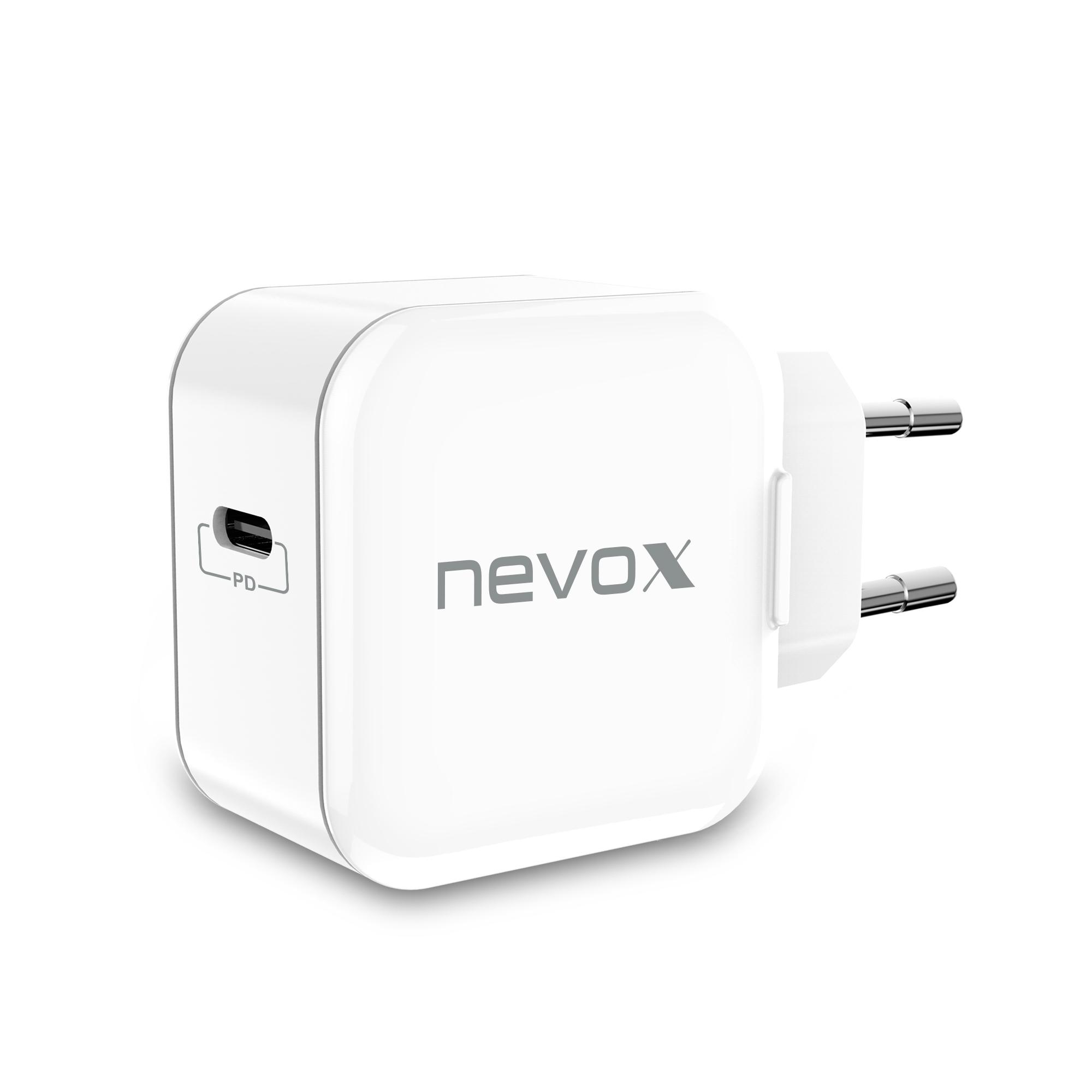 Nevox USB PD Type C Ladegerät 20 Watt weiß