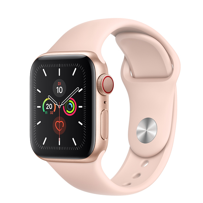 Apple Watch Ser5 Alu Gold GPS + Cell. 40 mm PinkSand Sport Band