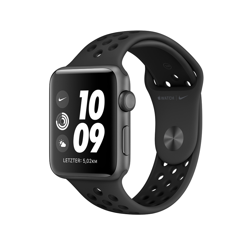 Apple Watch Nike3 Alu Space G PS 38mm Anthra/Black NikeBand