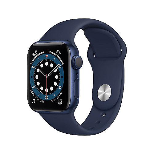 Apple Watch Ser6 Alu GPS Blue 40 mm Deep Navy Sport Band Regular
