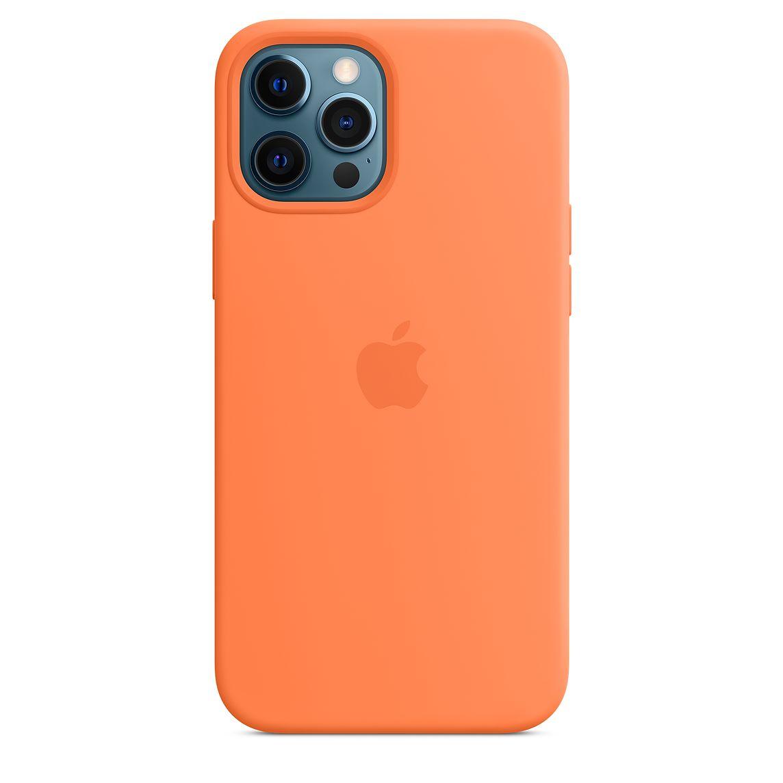 Apple iPhone 12 Pro Max Silicone Case with MagSafe Kumquat