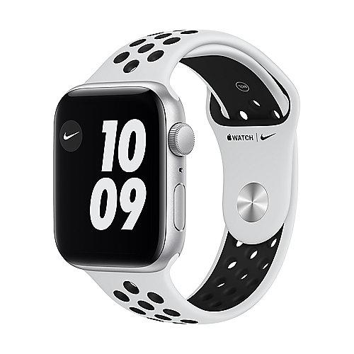 Apple Watch SE Nike Alu Silver GPS 44mm Pure Platinum/Black Nike Sport Band Regular